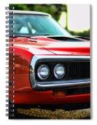 Dodge Super Bee Classic Red Spiral Notebook