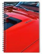 Dodge Super Bee Hood  In Red Spiral Notebook