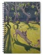 Dog And Monkey Spiral Notebook