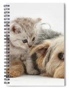 Dog Surrendering To Kitten Spiral Notebook