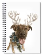 Dog With Antlers Spiral Notebook