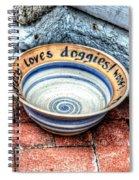 Doggie Dish Spiral Notebook