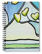Dogwood Stained Glass I Spiral Notebook