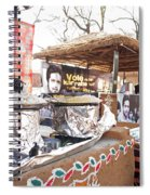 Doing Vendor Duty At Food Stalls In The Surajkand Mela Spiral Notebook
