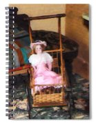 Doll In Carriage Spiral Notebook