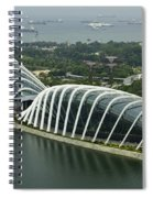 Domes Inside The Gardens By The Bay In Singapore Spiral Notebook