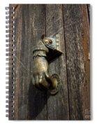 Door Handle In The Shape Of A Hand Spiral Notebook