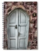 Door In Santorini Spiral Notebook