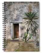 Door In Spanish Mission Building Spiral Notebook