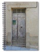 Door With Green Mailbox Spiral Notebook