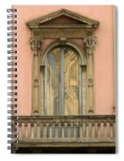 Doors Balcony And Duomo Reflection In Milan Italy Spiral Notebook