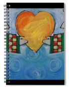 Double Angels With Heart Spiral Notebook
