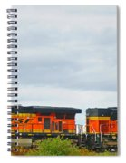 Double Bnsf Engines Spiral Notebook