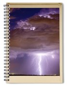 Double Lightning Strike Picture Window Spiral Notebook