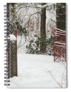 Double Red Iron Gates Spiral Notebook