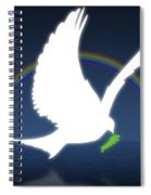 Dove Holding An Olive Branch With Spiral Notebook