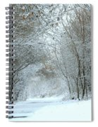 Down A Winter Road Spiral Notebook