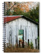 Down On The Farm - Old Shed Spiral Notebook