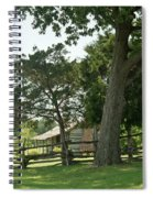 Down The Lane To The Cabin 3 Spiral Notebook