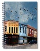 Downtown Bryan Texas 360 Panorama Spiral Notebook