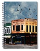 Downtown Bryan Texas Panorama 5 To 1 Spiral Notebook