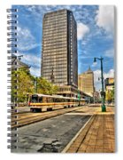 Downtown Buffalo Metro Rail  Heading To The Erie Canal Harbor Spiral Notebook