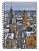 Downtown Court St Winter Scene Spiral Notebook