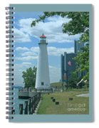Downtown Detroit Lighthouse Spiral Notebook