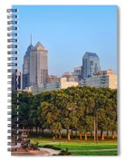 Downtown Philadelphia Skyline Spiral Notebook