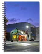 Downtown Waterville At Christmastime Spiral Notebook