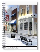 Downtown Waterville Decorated For The Holidays Spiral Notebook