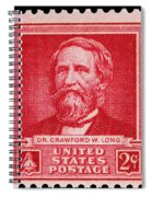 Dr Crawford W Long Postage Stamp Spiral Notebook