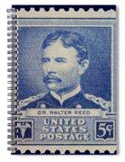 Dr Walter Reed Postage Stamp Spiral Notebook