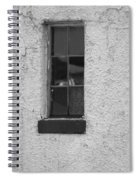 Drab In Black And White Spiral Notebook