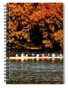Dragon Boat On The Schuylkill Spiral Notebook