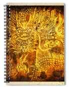 Dragon Painting On Old Paper Spiral Notebook