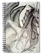 Dragonheart - Bw Spiral Notebook