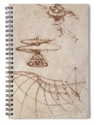 Drawings By Leonardo Divinci Spiral Notebook