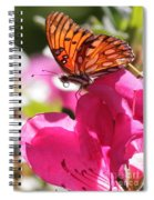 Dreaming Of Butterflies And Pink Flowers Spiral Notebook
