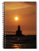Dreamy Sunset At The Lighthouse Spiral Notebook