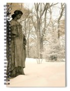 Dreamy Surreal Angel Sepia Nature Scene Spiral Notebook