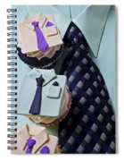 Dress Shirt Cupcakes Spiral Notebook