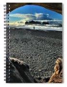 Drift Wood Frame Spiral Notebook