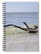 Driftwood In The Surf Spiral Notebook