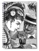 Drinking, 1875 Spiral Notebook