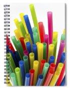 Drinking Straws Spiral Notebook