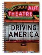Driving America Douglas Auto Theatre Spiral Notebook