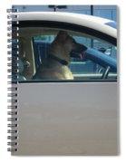 Driving Dog Spiral Notebook