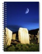 Drombeg, County Cork, Ireland Moon Over Spiral Notebook