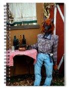 Drunk Werewolf Diner Spiral Notebook